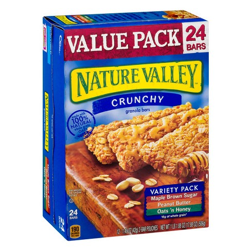 Nature Valley Crunchy Variety Pack Granola Bars - 24ct - image 1 of 3