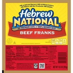 Hebrew National Beef Franks - 7ct/12oz