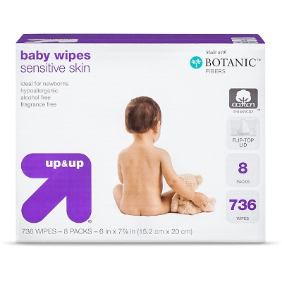 up & up™ Sensitive Skin Baby Wipes Refill Pack - 720 Count