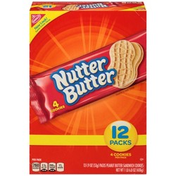 Nutter Butter Peanut Butter Sandwich Cookies - Traypack - 12ct/1.9oz