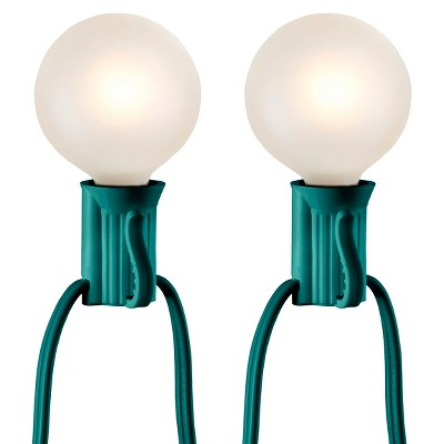 25ct Frosted Globe String Lights - Green string - Room Essentials™