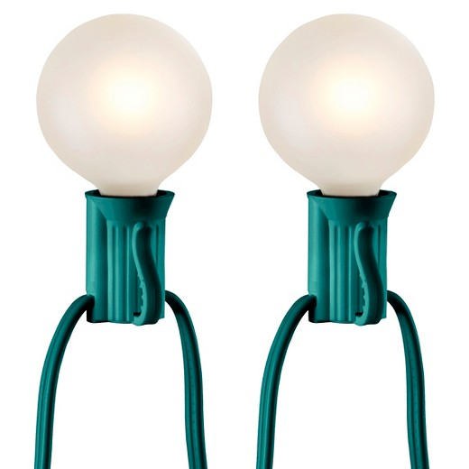 25ct Frosted Globe String Lights - Green string - Room Essentials : Target