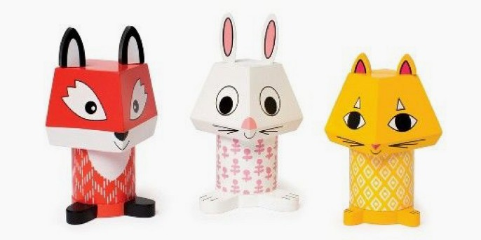 Manhattan Toy Mix and Match Fox, Bunny and Cat Magnetic Activity Set