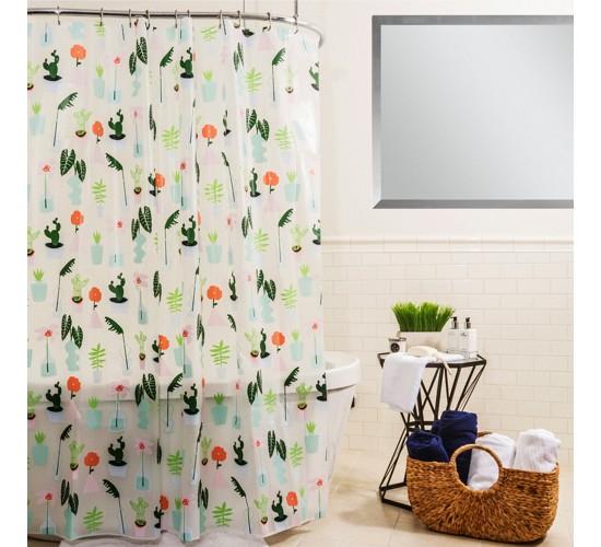 Plants Shower Curtain Green - Room Essentials™