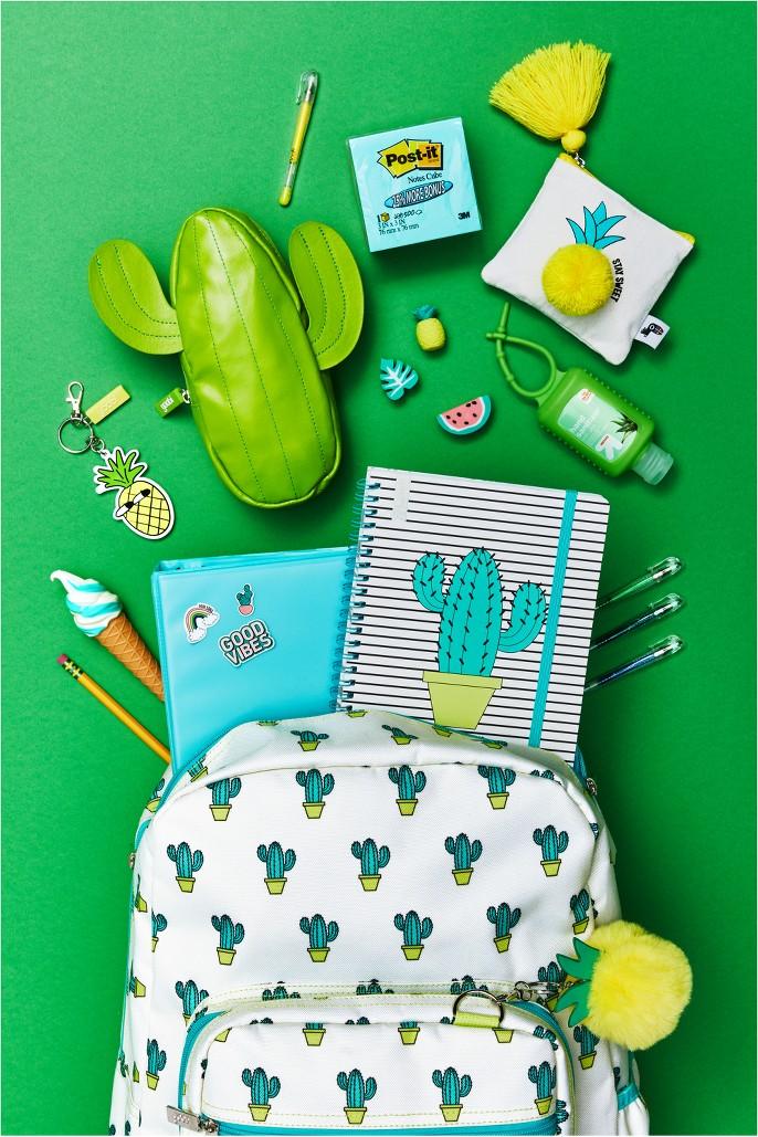 Cactus Pencil Case - Yoobi™, Zipped Coin Purse Pineapple with Tassel - Yoobi™, Post-It® Notes Cube, 3
