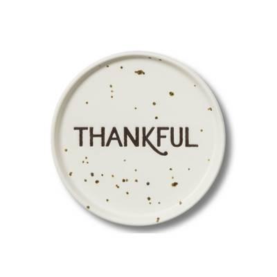 "4"" 4pk Ceramic Thankful Coasters - Threshold™"
