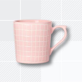 16oz Stoneware Pink Plaid Mug - Opalhouse™