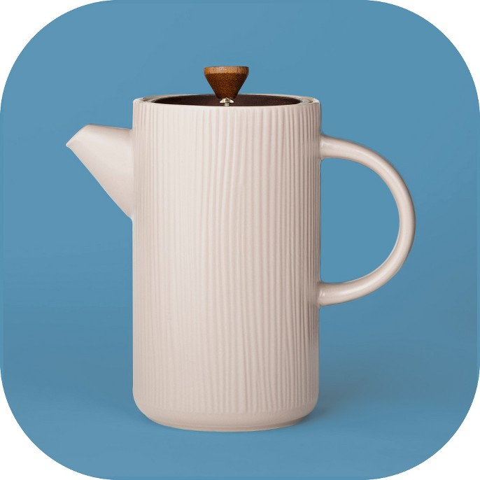 4.5cup Ceramic French Press Light Brown - Project 62™