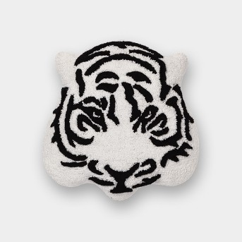 Tiger Throw Pillow Black/White - Room Essentials™