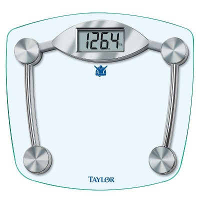 Taylor Biggest Loser Digital Glass Scale - Silver (11.2 x 12.5 )