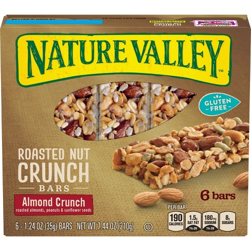 Nature Valley Roasted Almond Crunch Gluten Free Granola Bars - 6ct - image 1 of 3