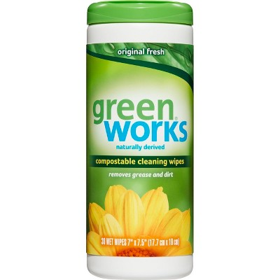 Multi-Surface Wipes: GreenWorks Compostable Wipes
