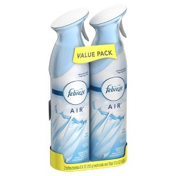 Febreze Air Freshener Linen & Sky - 2ct - 17.6oz