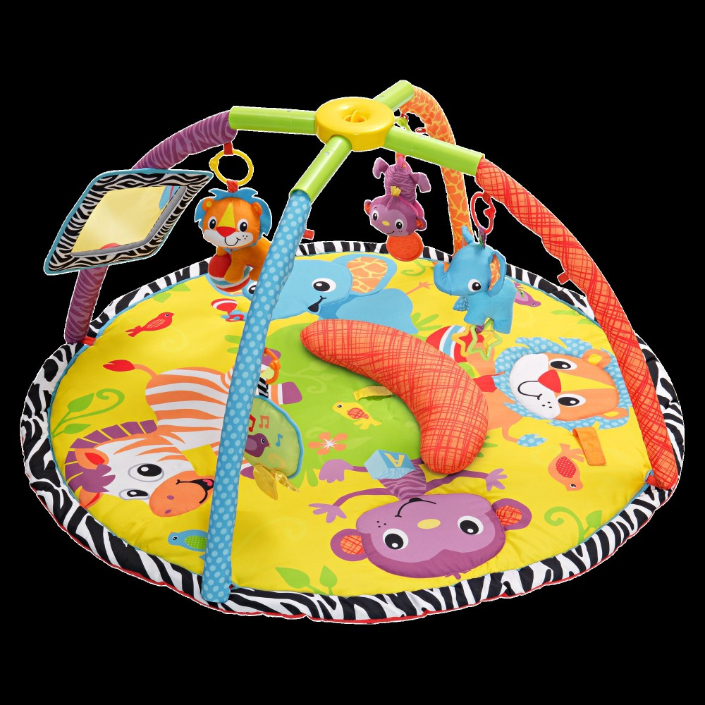 Infantino Twist and Fold Gym with Tummy Time - Baby Animal, Multi-Colored