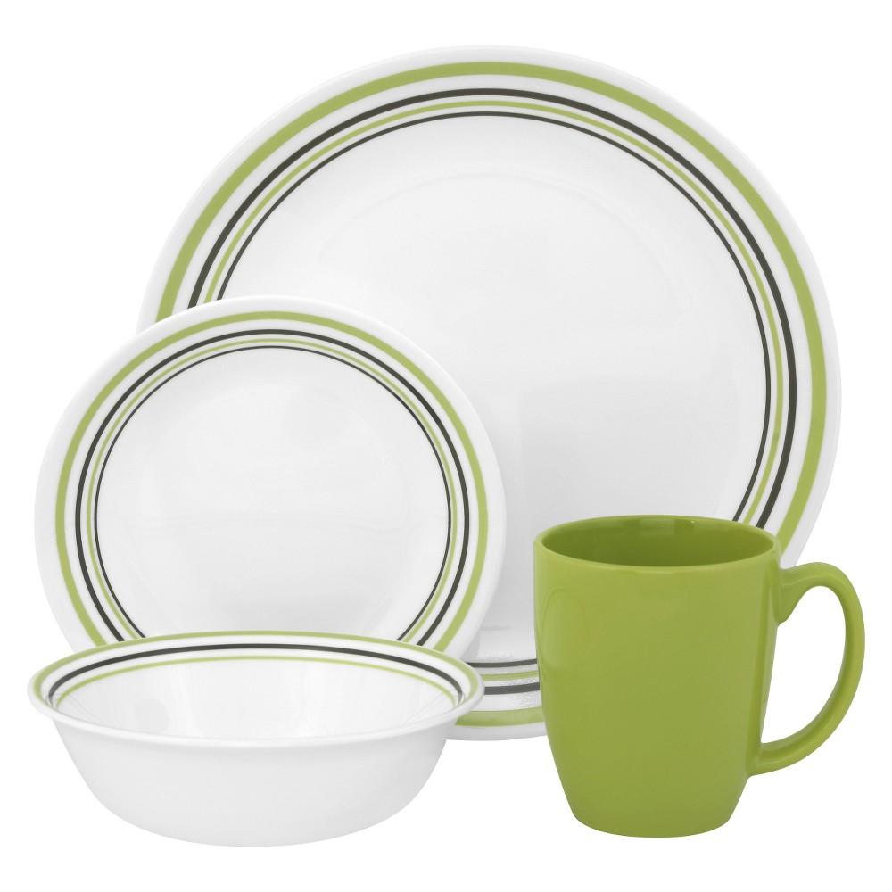 Corelle Livingware 16pc Dinnerware Set Garden Sketch Bands