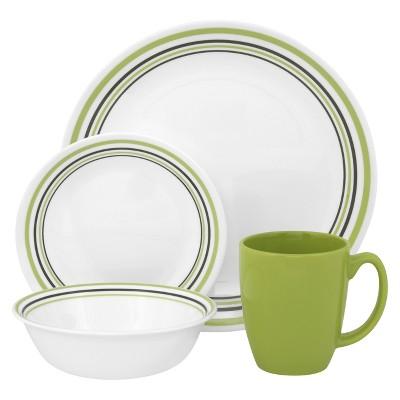 Corelle® Livingware™ 16pc Dinnerware Set Garden Sketch Bands