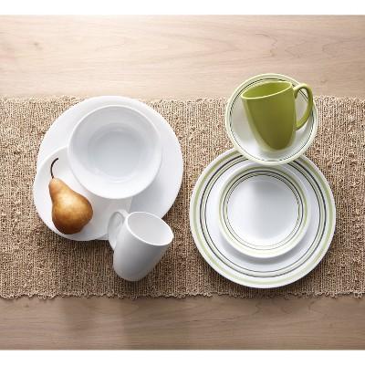 & Corelle® Livingware™ 16pc Dinnerware Set Garden Sketch Bands : Target