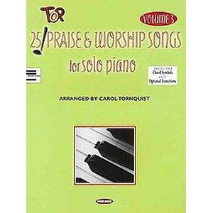25 Top Praise and Worship Songs for Solo Piano (Vol 3) (Paperback)