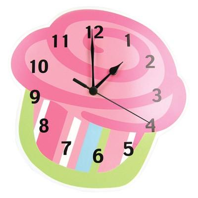 Cupcake Wall Clock Green/Pink - Trend Lab®