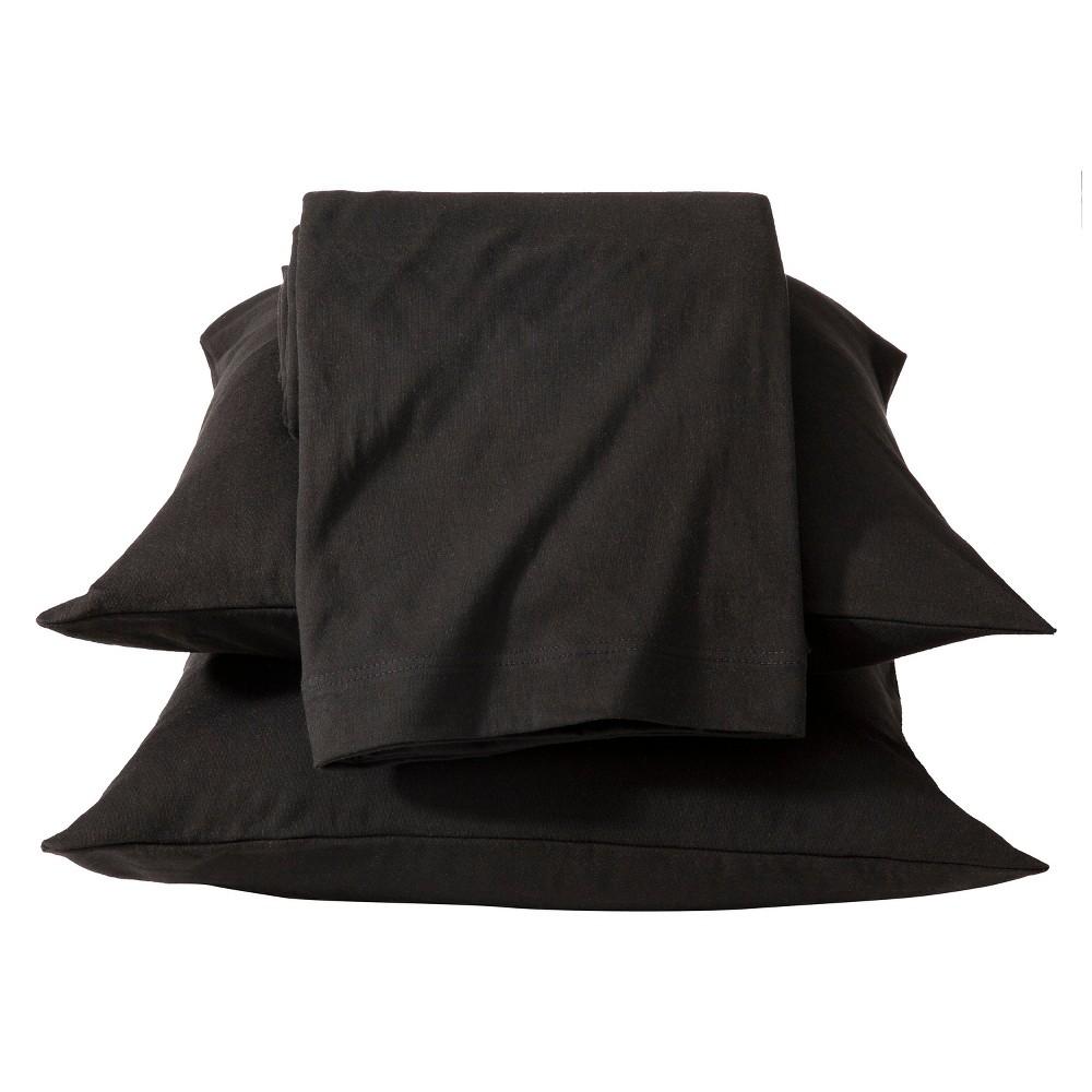 Jersey Sheet Set - (Twin) Black - Room Essentials