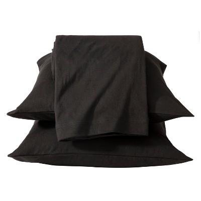 Jersey Sheet Set - (Full)Black - Room Essentials™