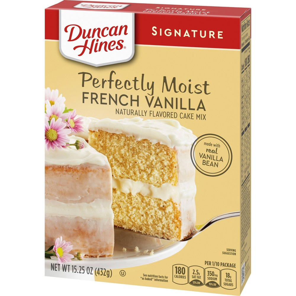 Duncan Hines Moist Deluxe French Vanilla Premium Cake Mix - 18.25 oz