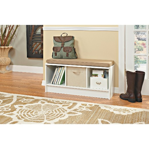 Storage Bench 3 Cubicles White - ClosetMaid - Storage Bench 3 Cubicles White - ClosetMaid : Target