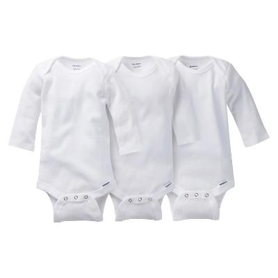 Gerber Baby Unisex 3pk Long Sleeve Onesies Bodysuits