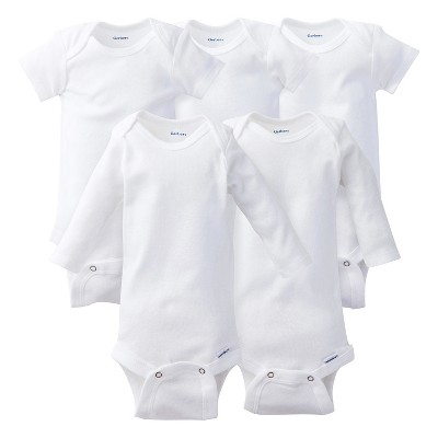 Gerber® Onesies® Baby 5pc Essentials Pack - White 0-3 Months