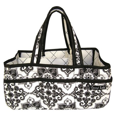 Trend Lab Storage Caddy - Black and White Versailles