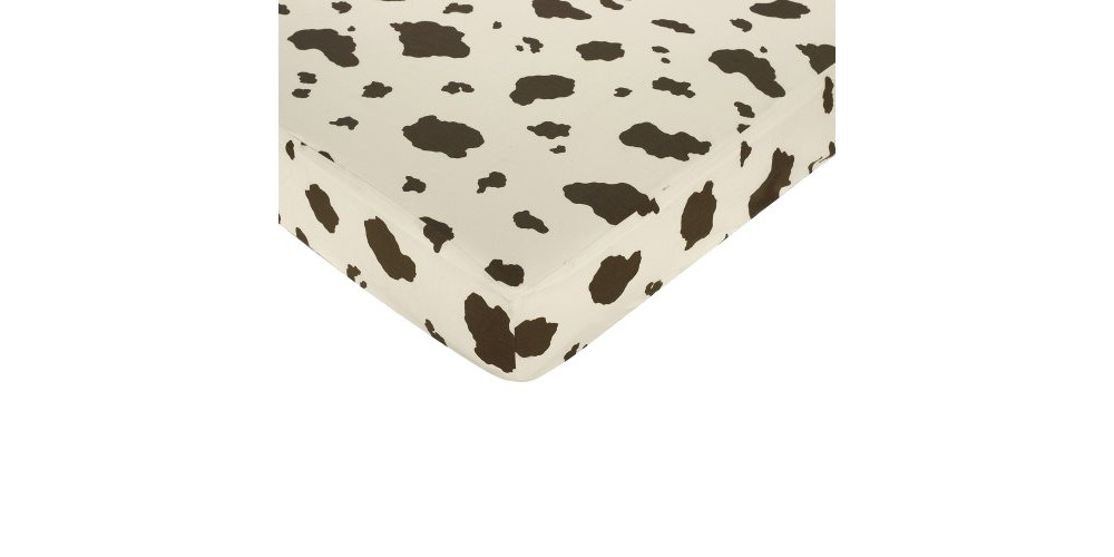 JoJo Designs Wild West Fitted Crib Sheet - Cow Print