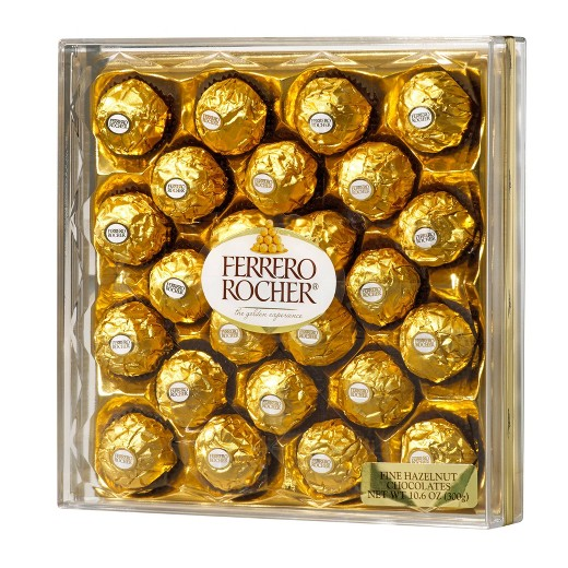 ferrero rocher fine hazelnut chocolates 24 ct target. Black Bedroom Furniture Sets. Home Design Ideas
