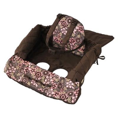 Eddie Bauer Shopping Cart Cover - Pink & Brown