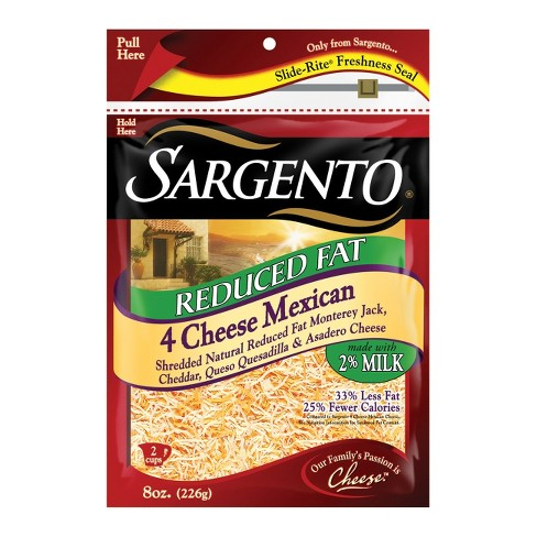Sargento® Reduced Fat 4 Cheese - Mexican Shredded Cheese - 8oz - image 1 of 2
