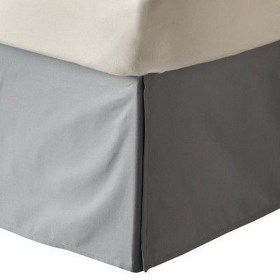 Gray Solid Bedskirt (King)- Room Essentials™