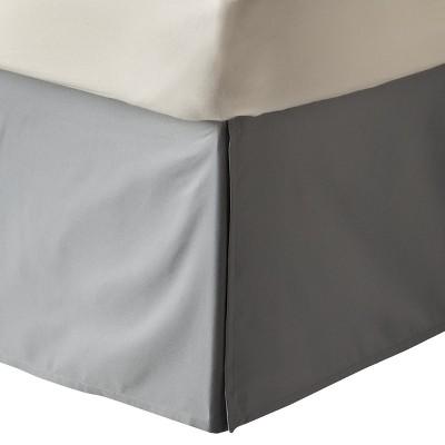 Gray Solid Bedskirt (Twin)- Room Essentials™