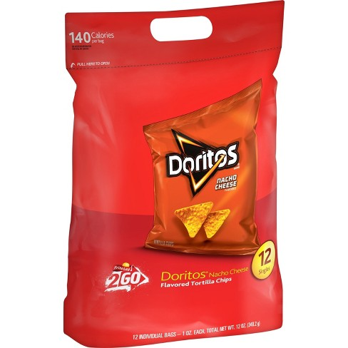 Doritos Nacho Cheese Flavored Tortilla Chips - 12ct - image 1 of 2