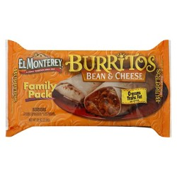 El Monterey Family Pack Bean & Cheese Burritos 8 ct