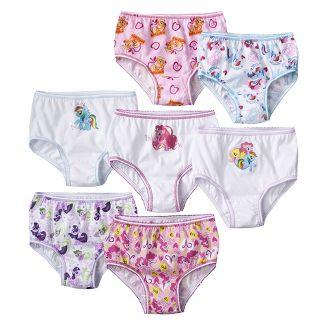 7 Pack Underwear, Toddler Girls Little Pony 4T