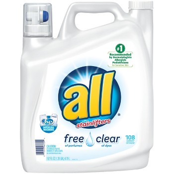 2-Pk. All Free & Clear Laundry Detergent