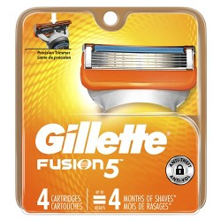 Gillette Fusion5 Men's Razor Blade Refills - 4ct