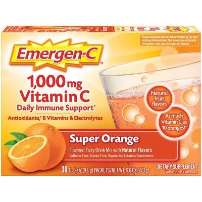 Emergen-C® Super Orange flavored Vitamin C drink mix - 30ct