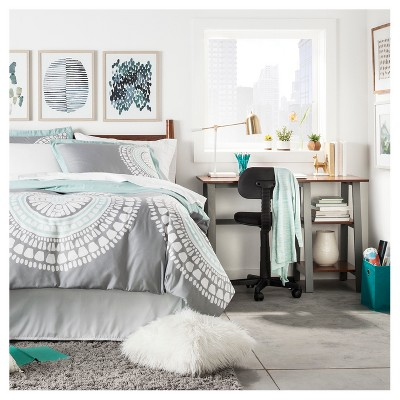 Small Space Blue U0026 Gray College Bedroom : Target