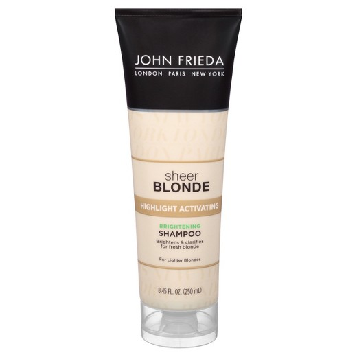 john frieda sheer blonde highlight activating enhancing shampoo for lighter shades. Black Bedroom Furniture Sets. Home Design Ideas