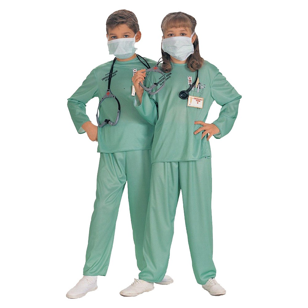 Kid's Doctor Costume S(4-6), Kids Unisex, Variation Parent
