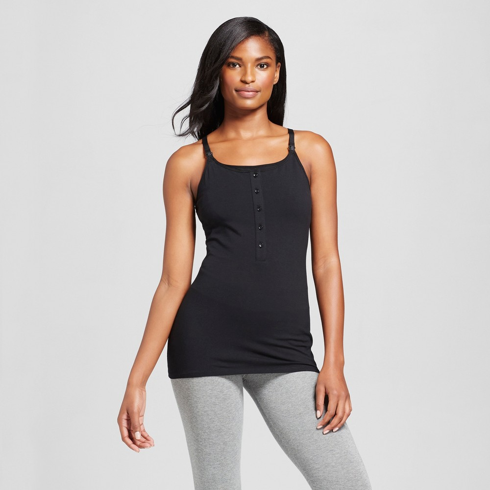 Womens Nursing Henley Cami Black, Size: Small