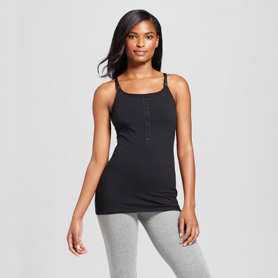 Women's Nursing Henley Cami Black L - Gilligan & O'Malley™