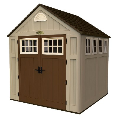 Resin Storage Shed 7.5 'X 7 'X 8.5' - Taupe Brown - Suncast