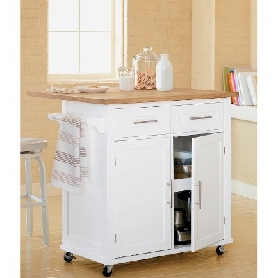 Large Kitchen Island With Wood Top And Storage   Threshold™