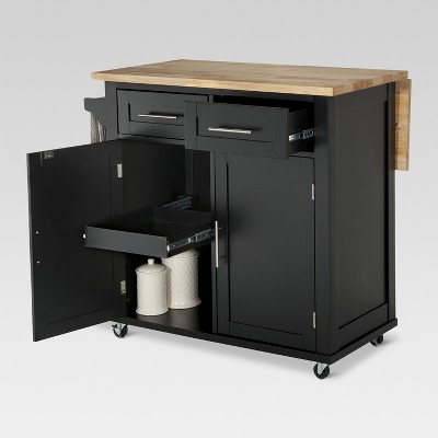 Large Kitchen Island With Wood Top And Storage   Threshold™ : Target